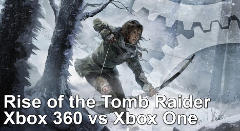 Rise of the Tomb Raider Xbox 360 vs Xbox One Frame Rate Test